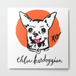 Chloe Kardoggian Illustration with Signature Metal Print