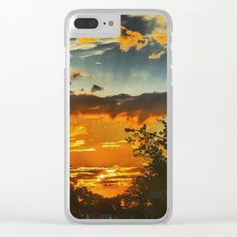Layers of Heaven Clear iPhone Case
