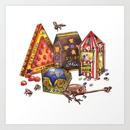 Wizarding World Candy Art Print