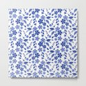 Lovely blue flowers on a white background. by marinaklykva
