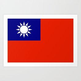 taiwan flag Art Print