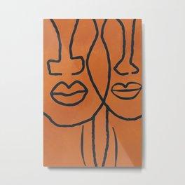 Janie and Teacake line art Metal Print