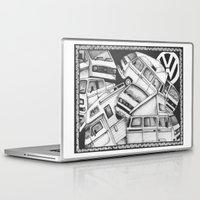 volkswagen Laptop & iPad Skins featuring Volkswagen Campervans by Squidoodle