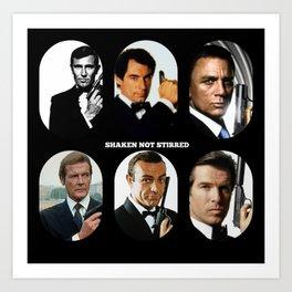 007 Meet 007 & 007 & 007, 007 Bond Art Print