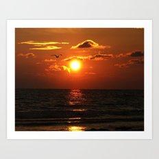 Madeira Beach Sunset 1 Art Print