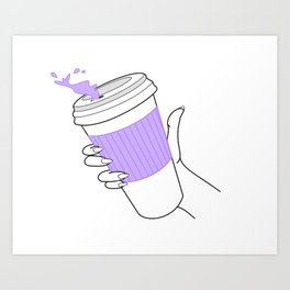 don't spill ! Art Print