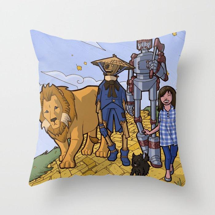 The Wonderful Wizard of Oz Throw Pillow