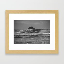 Engulfed islet Framed Art Print
