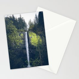 Latourell Falls in the Columbia River Gorge - Oregon Waterfalls Stationery Cards