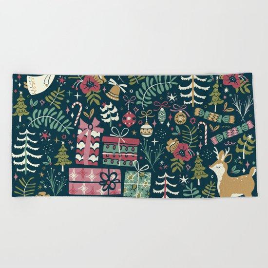 Christmas Joy Beach Towel