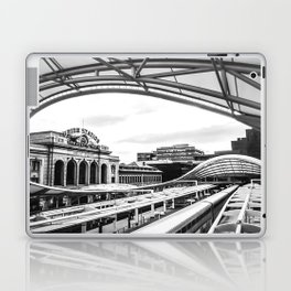 Union Station // Train Travel Downtown Denver Colorado Black and White City Photography Laptop & iPad Skin