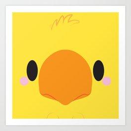 Yellow Chocobo Block Art Print