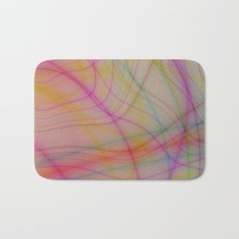 Colorful wavy lines Bath Mat