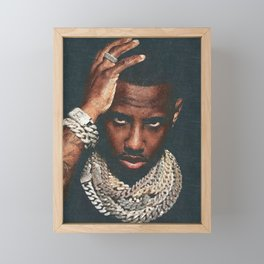 𝐇.𝕋.Ǥ.b.ㄚ. Rap Hip Hop Society6 Fabolous - Greg Yuna Jewelry Rap Music Hip Hop NYC Brooklyn Pastel Framed Mini Art Print