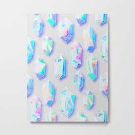 Iridescent Rainbow Crystals Metal Print