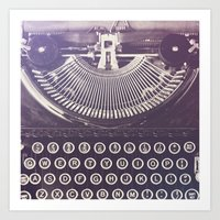 typewriter Art Prints featuring Typewriter by Jessica Torres Photography