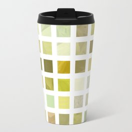 Pale Yellow Poinsettia 1 Abstract Rectangles 2 Travel Mug