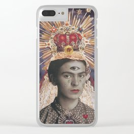 Saint Frida Clear iPhone Case