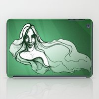emerald iPad Cases featuring Emerald by Sam Pea