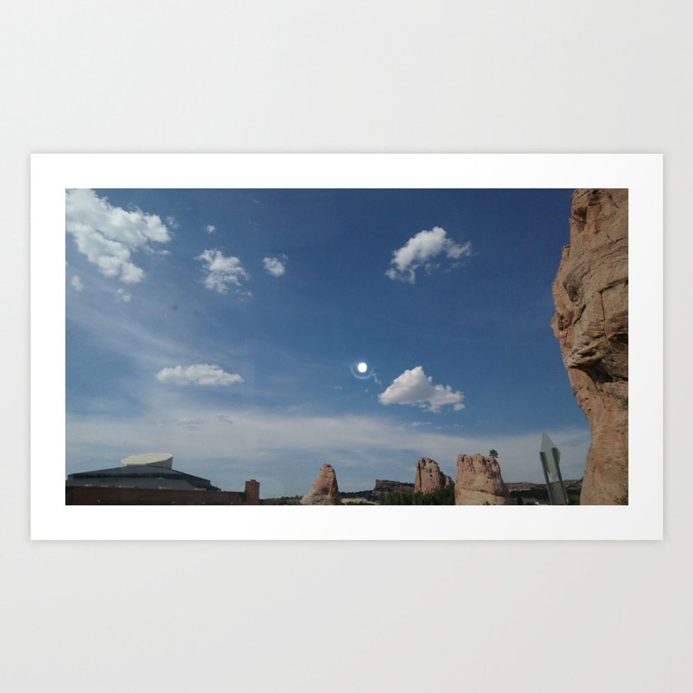 New Mexico Moon Art Print by Ambidextrous-brain PRN8988846