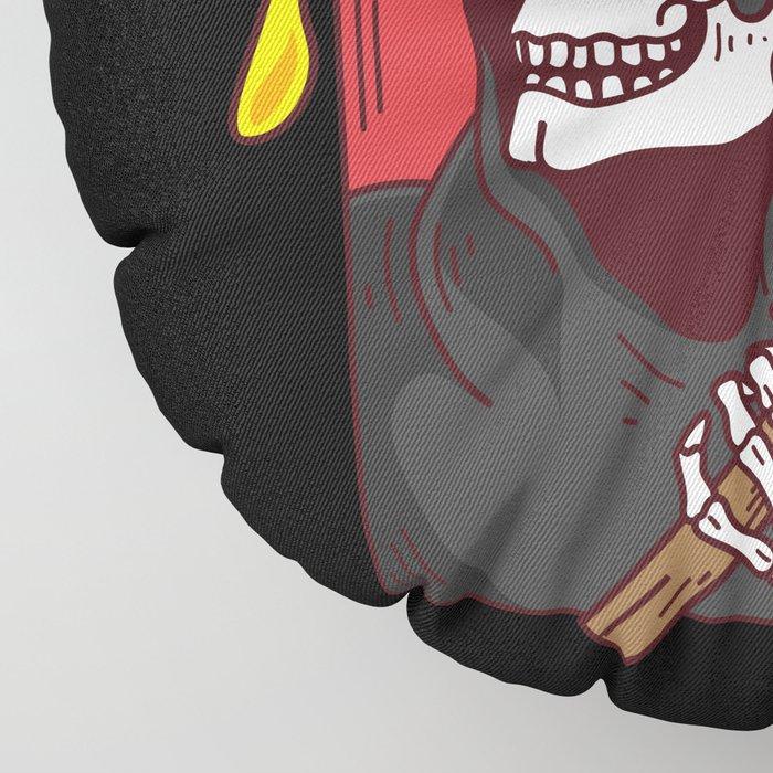 Mens Pie Till I Die Shirt Funny Pizza T-Shirt I Grim Reaper Pizza Pie Till I Die Shirt Floor Pillow