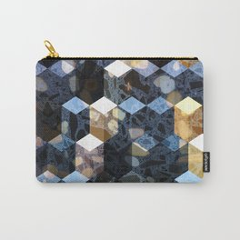 Art Deco Terrazzo Cube Pattern #abstractart #pattern Carry-All Pouch