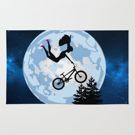 Doll Riding A BMX - ET Style - With Pink Stilettos! Rug