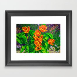 View of Tulips Framed Art Print