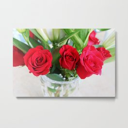 The Red Garden Metal Print