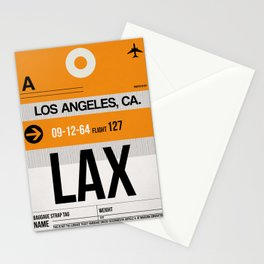 LAX Los Angeles Luggage Tag 2 Stationery Cards