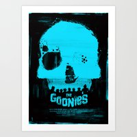goonies Art Prints featuring The Goonies by Dan K Norris