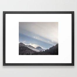 Driving Through Austria Framed Art Print