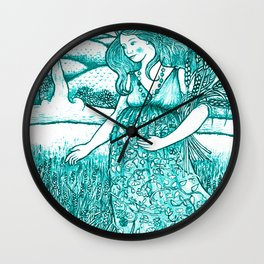 Robin's Egg Empress Wall Clock