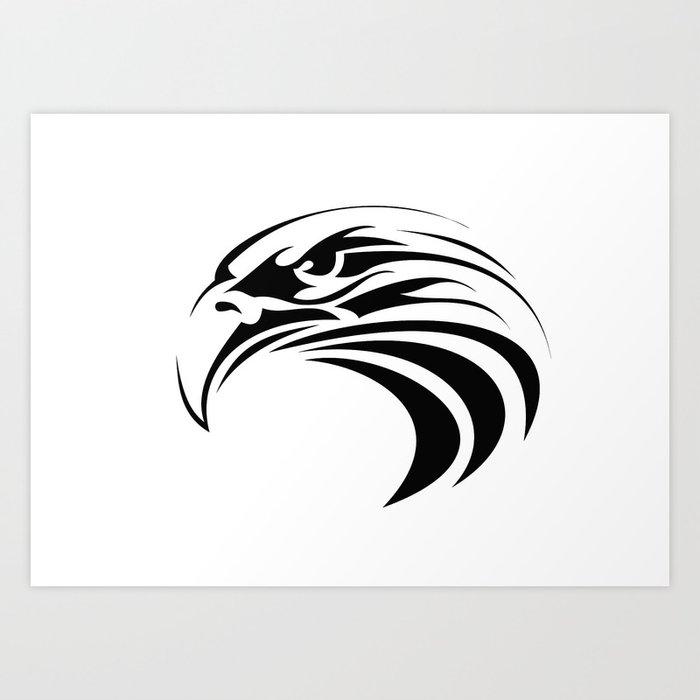 Tribal Eagle Tattoo America Symbol Bird Patriot Art Print