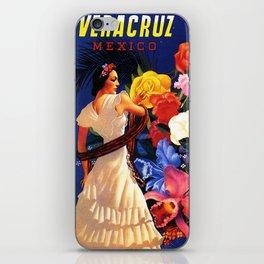 Veracruz Travel Poster iPhone Skin