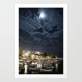 And the Moon to Rule the Sea Art Print