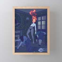 QUARANTINE MOOD Framed Mini Art Print