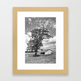 Old Shed in Richmond Texas Framed Art Print