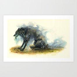 Smokewolf Art Print