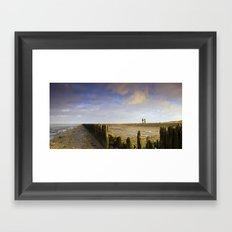 Walk to the sea Framed Art Print