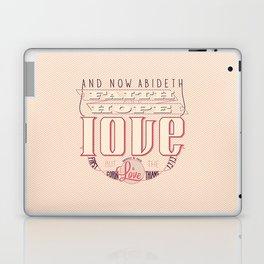 Faith Hope and Love | 1 Corinthians 13:13 (feminine colors) Laptop & iPad Skin