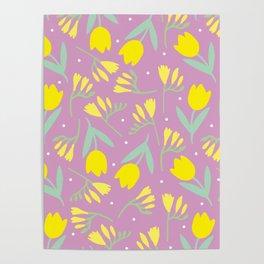 Tulip & Freesia Poster