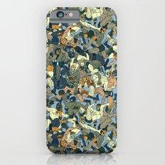 Lucha Pattern(blue&orange) Slim Case iPhone 6