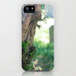 Tree In Churchyard Photo iPhone Case