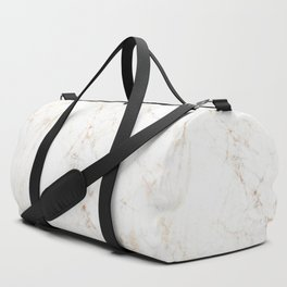 White Marble with Delicate Gold Veins Duffle Bag