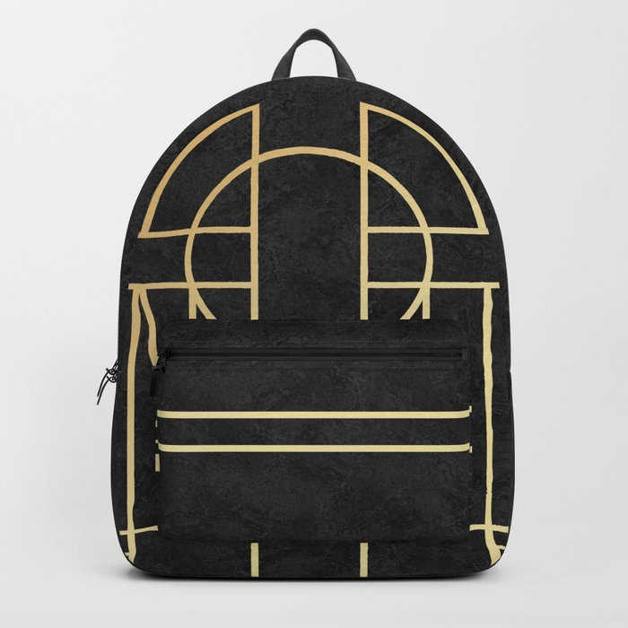 Art Deco Black Marble Rucksack