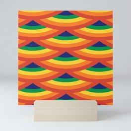 Retro Rainbow Scallops Mini Art Print
