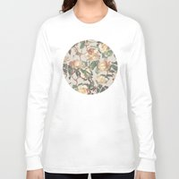 rose Long Sleeve T-shirts featuring Soft Vintage Rose Pattern by micklyn