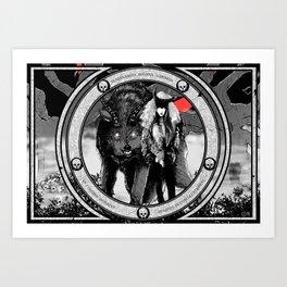 Tenebrarum domina luporum Art Print
