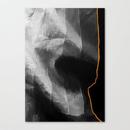 Black and Orange Canvas Print